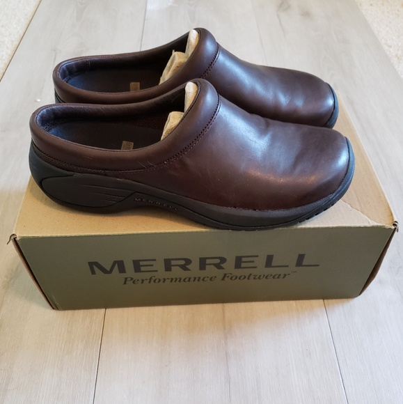 c09db9cfb7f85 Merrell Shoes | New Leather Slip On | Poshmark